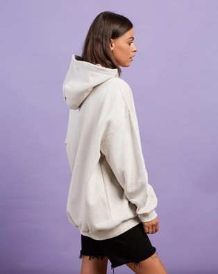 Stussy Graffiti Oversized Hood - Hoodies (White Sand)