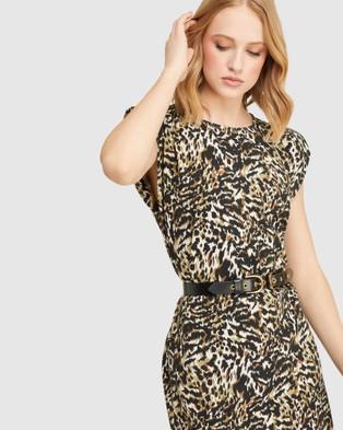 Oxford Elodie Animal Printed Jersey Dress - Printed Dresses (Brown)