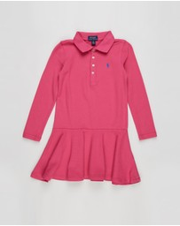 Polo Ralph Lauren - Long Sleeve Knit Polo Dress - Kids