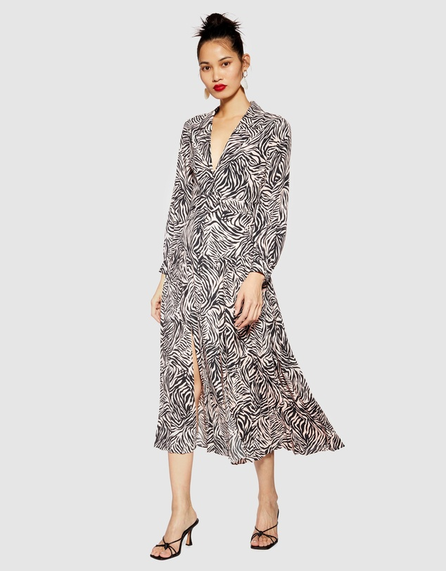 quite nice price reduced the cheapest Zebra Print Midi Dress by TOPSHOP Online | THE ICONIC | Australia