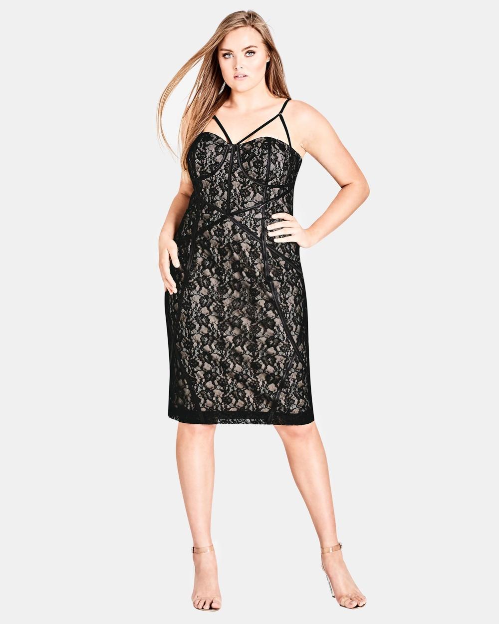 City Chic Winner Circle Dress Bodycon Dresses Black Winner Circle Dress