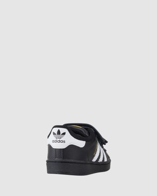 adidas Originals Superstar Foundation II Strap Infant - Sneakers (Black/White)