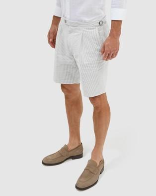 SABA Antonio Seersucker Shorts - Chino Shorts (pattern)