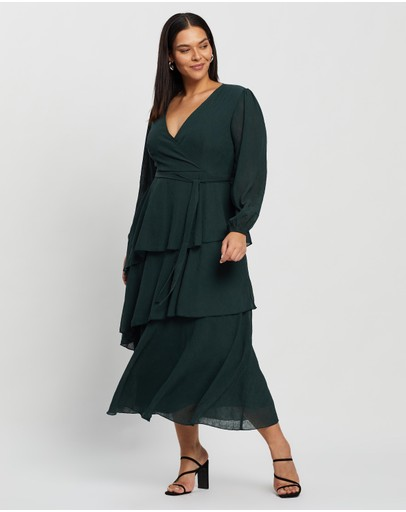 Atmos&Here Curvy - Charlotte Tiered Midi Dress
