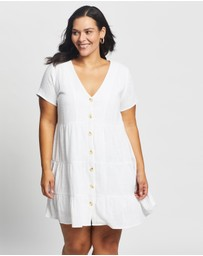 Atmos&Here Curvy - Lara Button Through Mini Dress