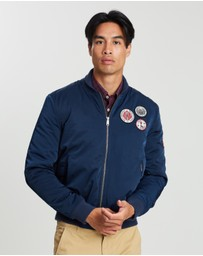 Ben Sherman - Sateen Badge Bomber Jacket