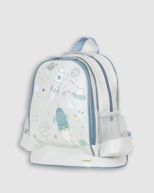 Bobbleart Large Backpack Lunch Bag Bento Box and Drink Bottle Space - Backpacks (Light Grey)