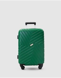 JETT BLACK - Pine Green Maze Carry On Suitcase