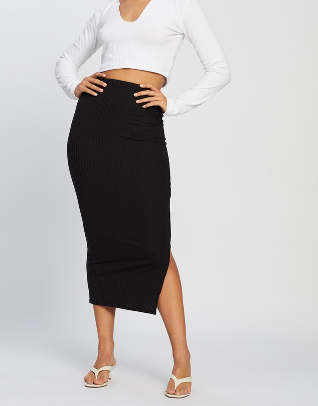 Missguided - Co-Ord Ribbed Midi Skirt