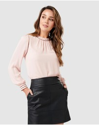 Forever New - Talia Trim Splice Formal Blouse