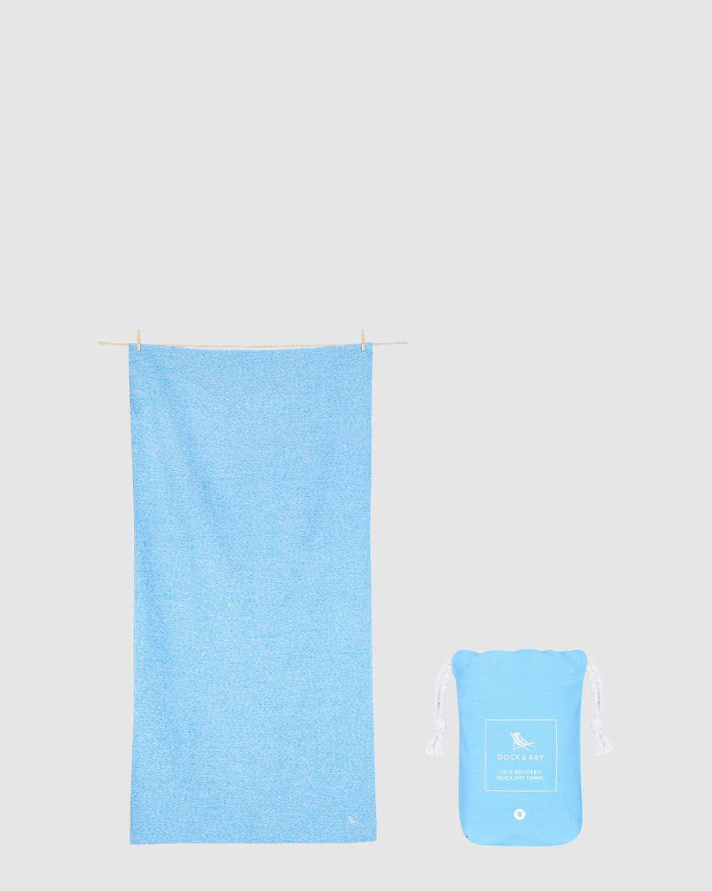 Dock & Bay Small Fitness Towel 100% Recycled Essential Collection Gym Yoga Blue