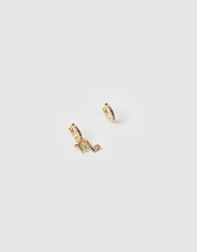 Women Scorpio Star Sign Huggie Earring