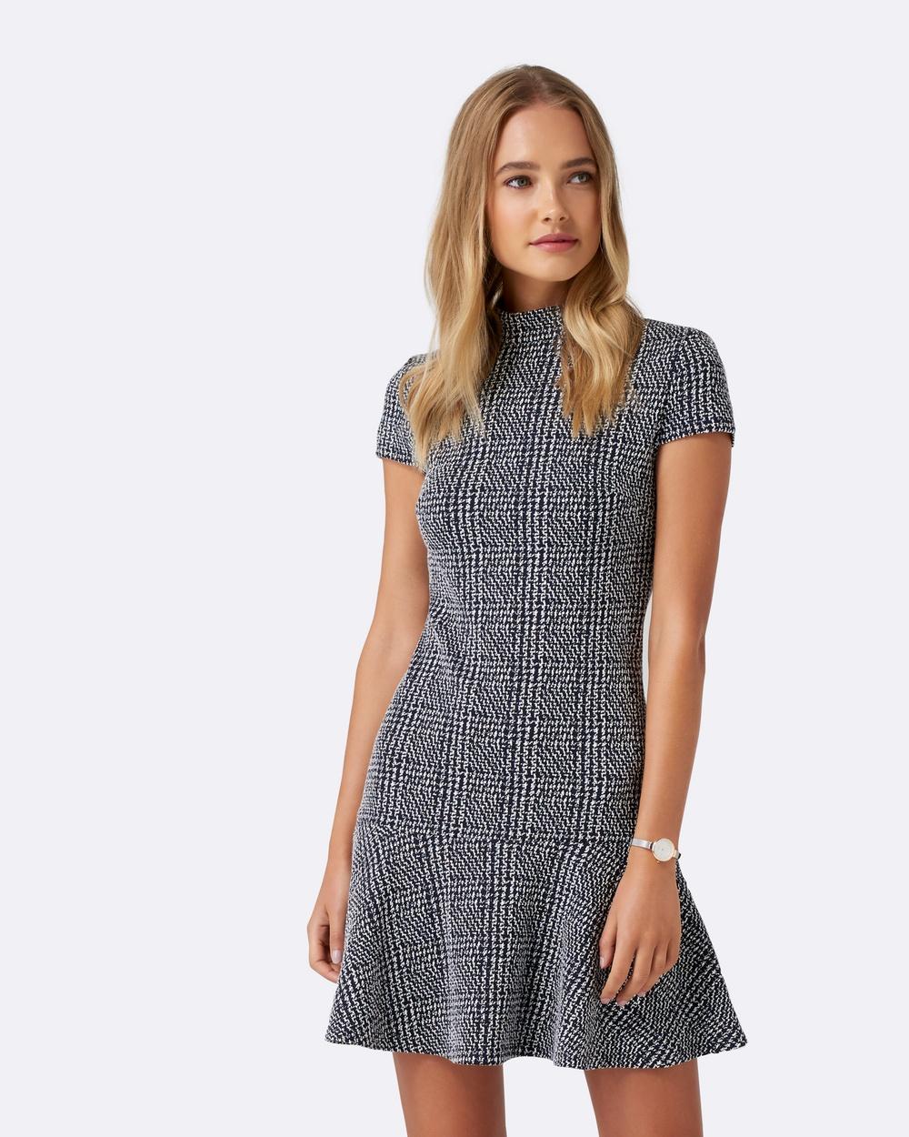 Forever New Jilly High Neck Flippy Hem Dress Dresses Navy Multi Jilly High Neck Flippy Hem Dress