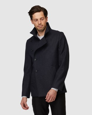 Jack London Brompton Charcoal Coat - Coats & Jackets (Grey)