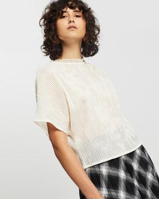 M.N.G Kalista T Shirt - Tops (Light Beige)
