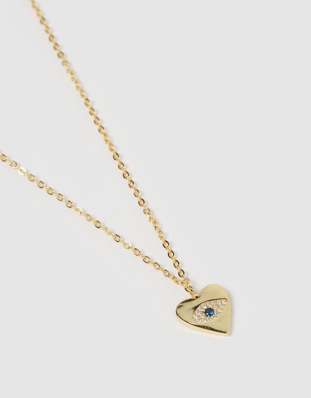 Women Emilia Evil Eye Heart Pendant Necklace