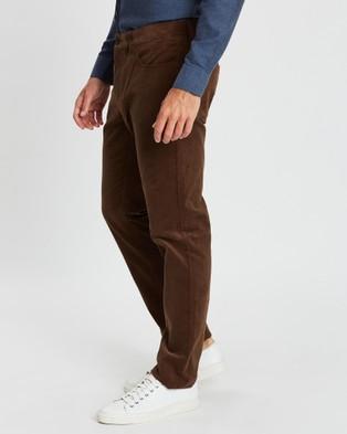 CERRUTI 1881 - Straight Leg Corduroy Trousers Pants (Brown)