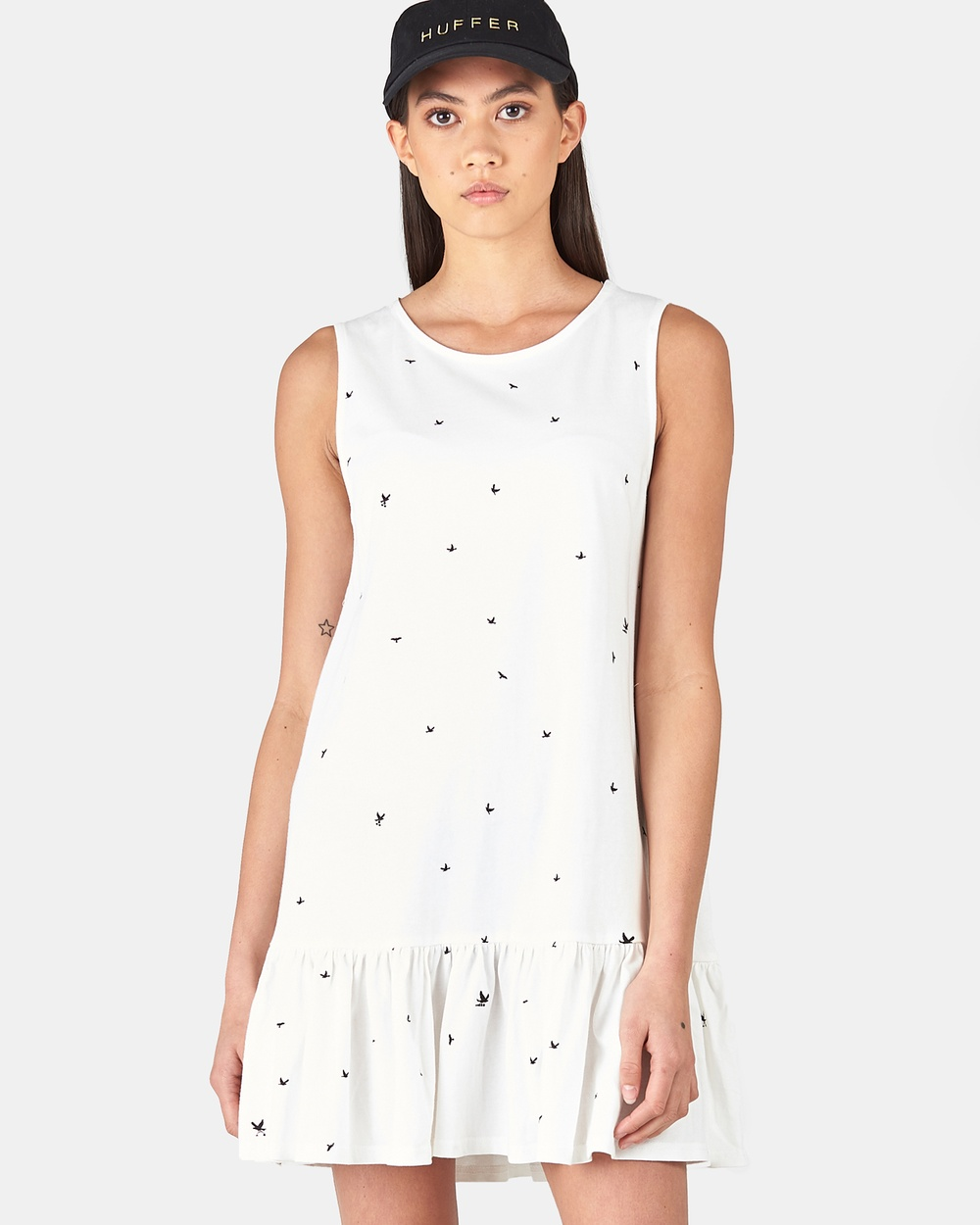 Huffer ISLE OF PINES PORT DRESS Dresses WHITE ISLE OF PINES PORT DRESS