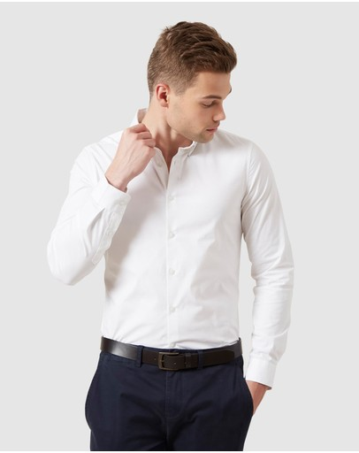 French Connection Formal Slim Fit Shirt White