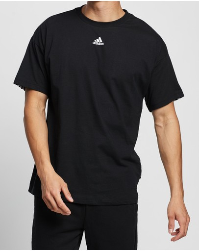 Adidas Performance Must Haves 3-stripes Tee Black
