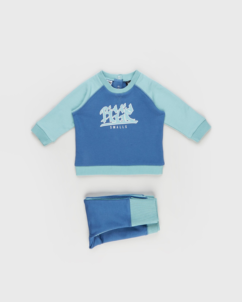 Cotton On Baby Tate Sully Tracksuit Babies Sweats Licensed Petty Blue & Biggie Graffiti Logo