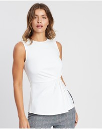 ICONIC EXCLUSIVE - Havannah Gathered Front Sleeveless Top