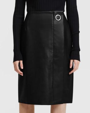 ARIS Vegan Leather Pencil Skirt - Leather skirts (Black)