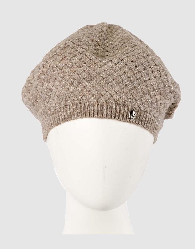 Women Red European Made Crocheted Woolen Beret