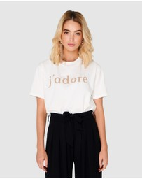 Apero Label - J'adore Beaded T-Shirt