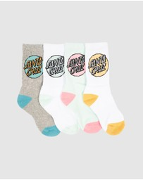 Santa Cruz - Pop Dot Socks 4-Pack - Teens