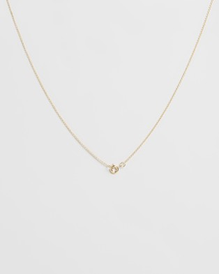 Natalie Marie Jewellery Dotted Oval Necklace - Jewellery (9ct Gold)