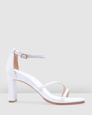 Bared Footwear Swan Leather Heels Women's Casual Shoes White