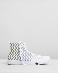 Converse - Chuck Taylor All Star Voltage Chevron Hi-Top Sneakers - Women's