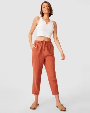 Cotton On Cali Pull On Pants - Pants (Warm Bronze)