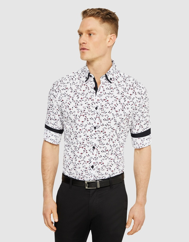 Tarocash - Oxley Slim Floral Print Shirt