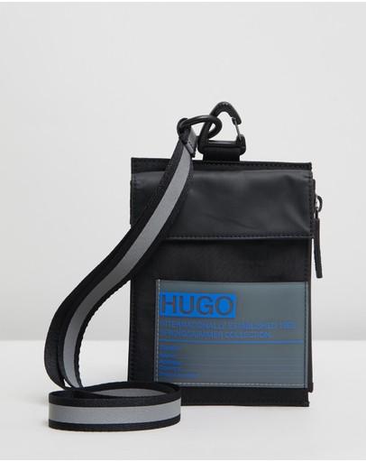 Hugo Voyager Neck Pouch Black
