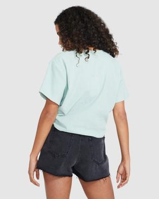 Insight Arizona Tie Front Shirt - Tops (GREEN)