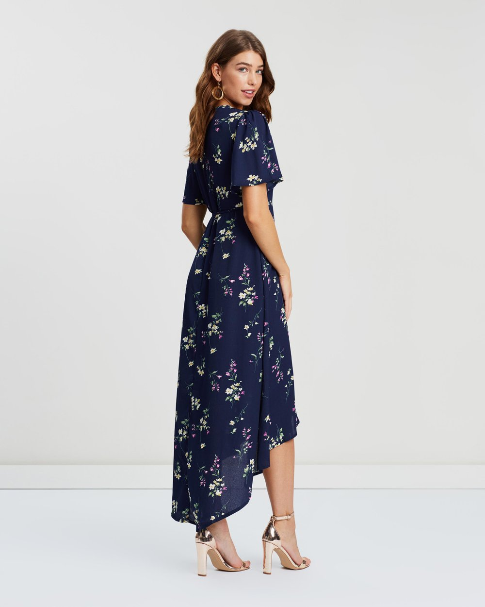c8185f6f86aa High-Low Wrap Front Midi Tea Dress by Missguided Online | THE ICONIC |  Australia