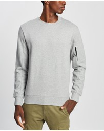 C.P. Company - Embroidered Logo Crew Neck Sweatshirt