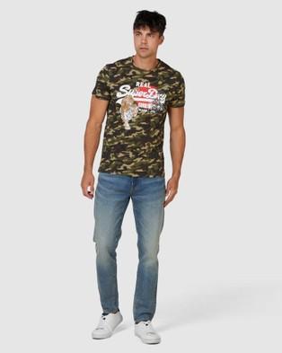 Superdry Vintage Logo Rising Sun Tee - T-Shirts (Camo)