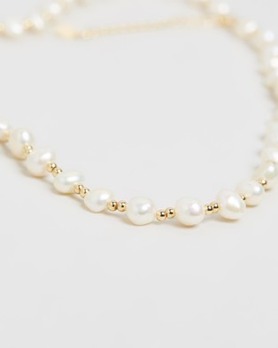 Carly Paiker Vacation Pearl Necklace - Jewellery (Pearl & Gold)