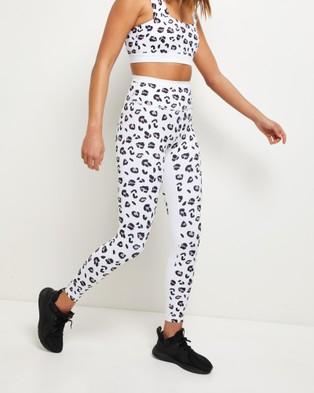 All Fenix Cova Cheetah 7 8 Leggings - 7/8 Tights (White)