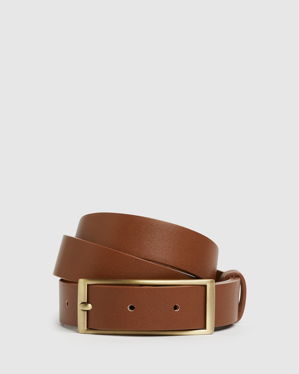 French Connection Rectangle Buckle Belt Belts TAN