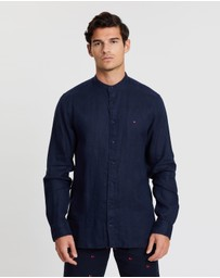 Tommy Hilfiger - Solid Long Sleeve Linen Shirt