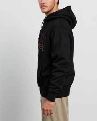Barney Cools Vintage Club Hood Hoodies Black