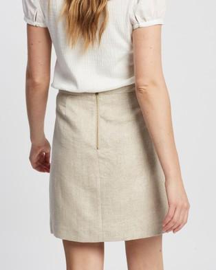 Marcs Afterglow Linen Skirt - Skirts (LIGHT GOLD)