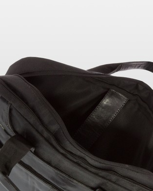 Cobb & Co Garry Leather and Nylon Satchel - Tech Accessories (Black)