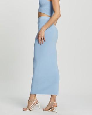 Dazie Girl Meets Boy Maxi Tube Skirt - Skirts (Blue)