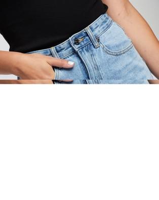 Atmos&Here Jade Recycled Cotton Blend Denim Mini Skirt - Denim skirts (Vintage Blue)