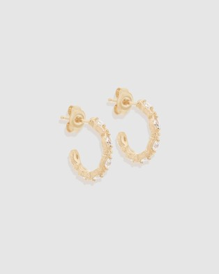 By Charlotte Stars Align Hoops - Jewellery (Gold)